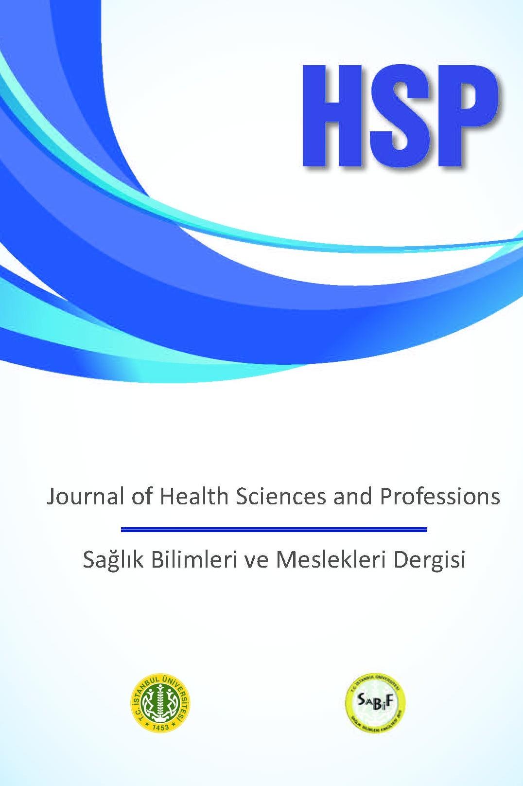 Sağlık Bilimleri ve Meslekleri Dergisi