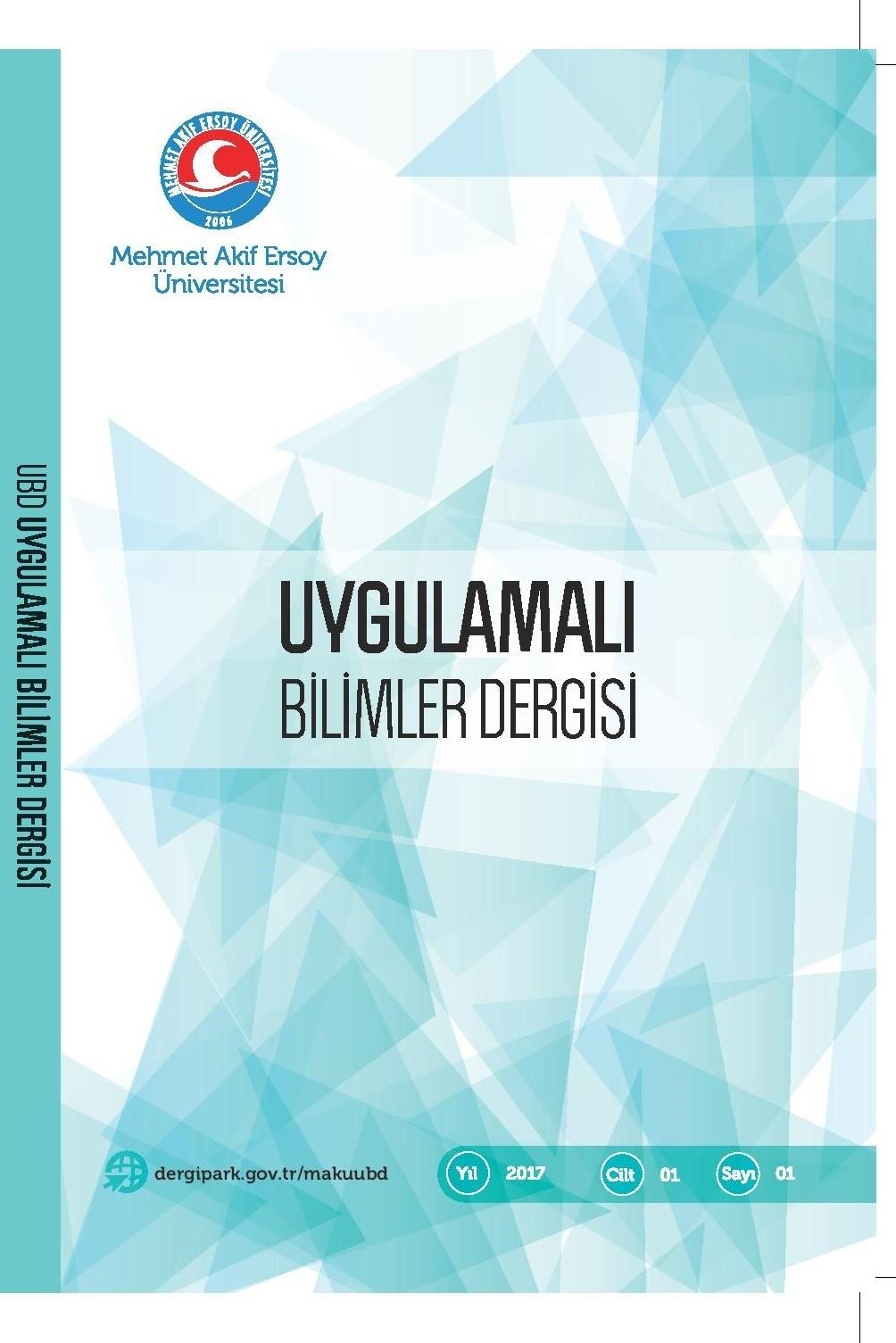 Mehmet Akif Ersoy Üniversitesi Uygulamalı Bilimler Dergisi (MAKUUBD)
