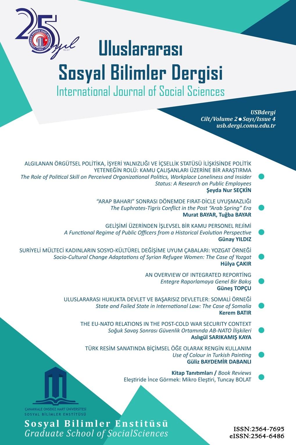Çanakkale Onsekiz Mart Üniversitesi Uluslararası Sosyal Bilimler Dergisi