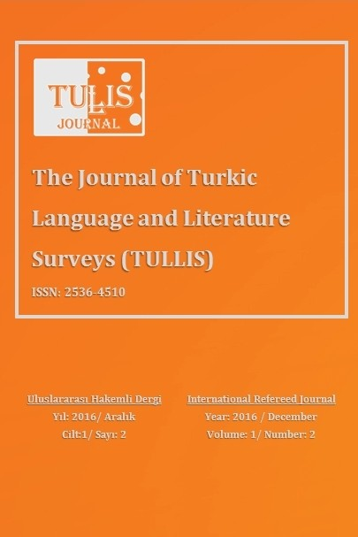Tullis Journal - The Journal of Turkic Language and Literature Surveys