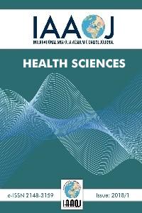 International Anatolia Academic Online Journal / Journal of Health Science