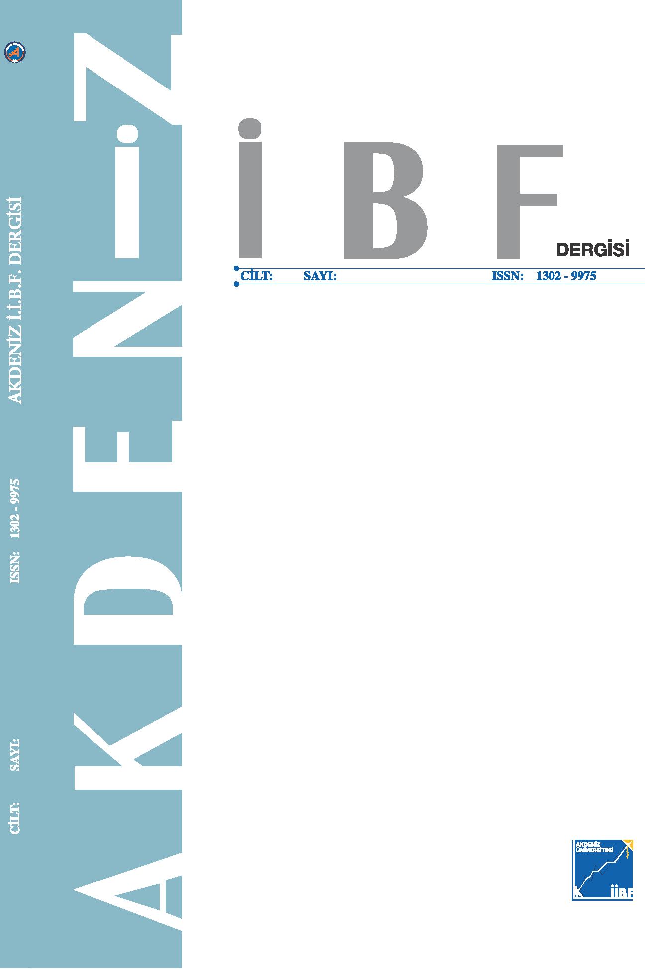 Akdeniz Üniversitesi İktisadi ve İdari Bilimler Fakültesi Dergisi