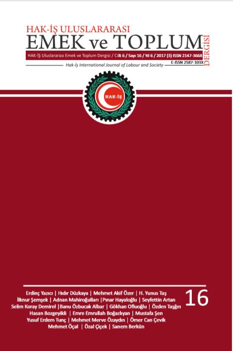 Hak İş Uluslararası Emek ve Toplum Dergisi