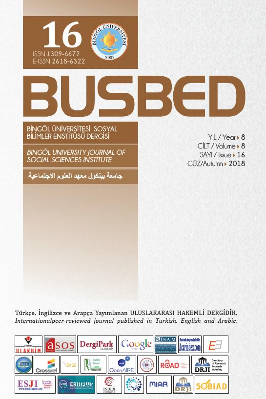 Bingöl University Journal of Social Sciences Institute