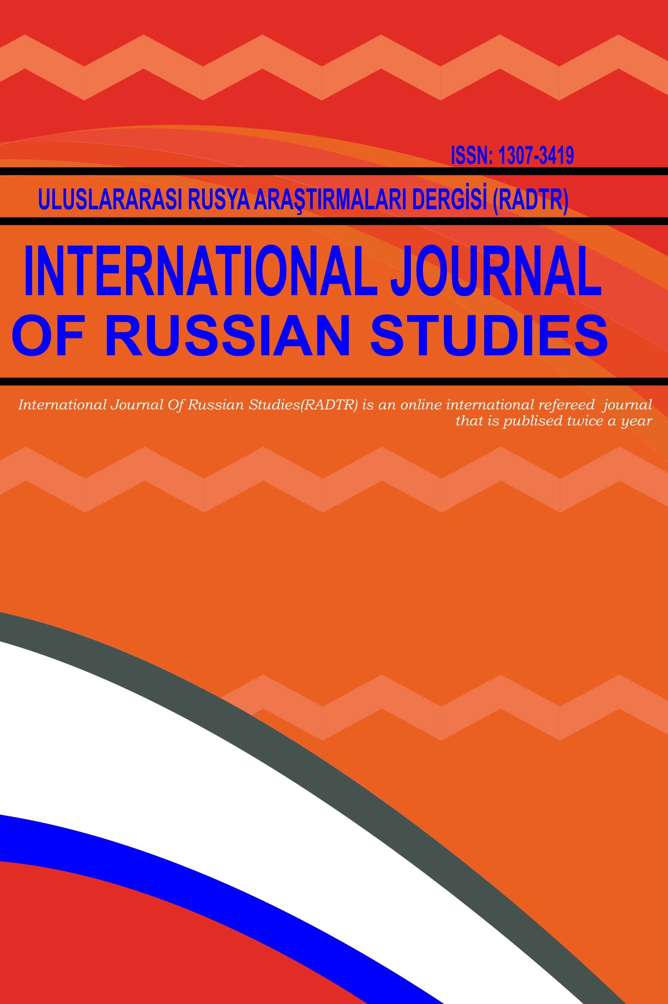 Uluslararası Rusya Araştırmaları Dergisi