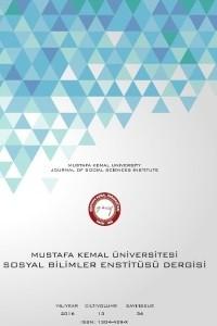 Mustafa Kemal Üniversitesi Sosyal Bilimler Enstitüsü Dergisi