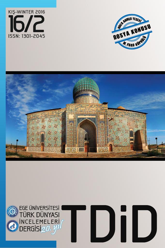 Ege Üniversitesi Türk Dünyası İncelemeleri Dergisi