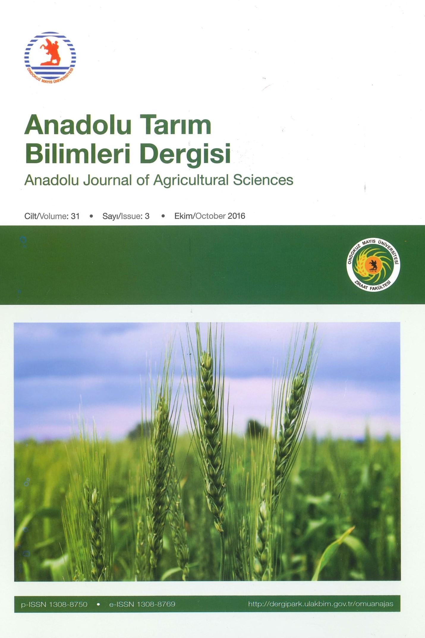 Anadolu Tarım Bilimleri Dergisi
