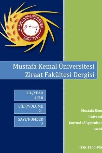 Mustafa Kemal Üniversitesi Ziraat Fakültesi Dergisi