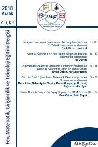 Fen, Matematik, Girişimcilik ve Teknoloji Eğitimi Dergisi