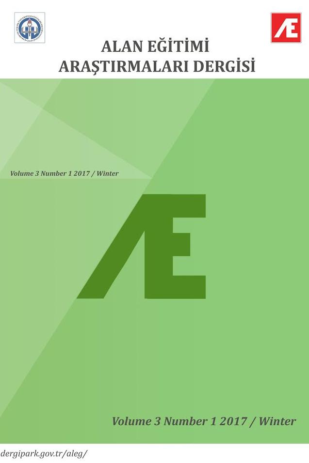 Alan Eğitimi Araştırmaları Dergisi