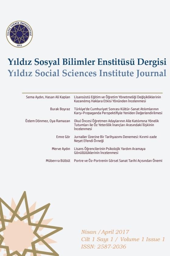 Yıldız Sosyal Bilimler Enstitüsü Dergisi
