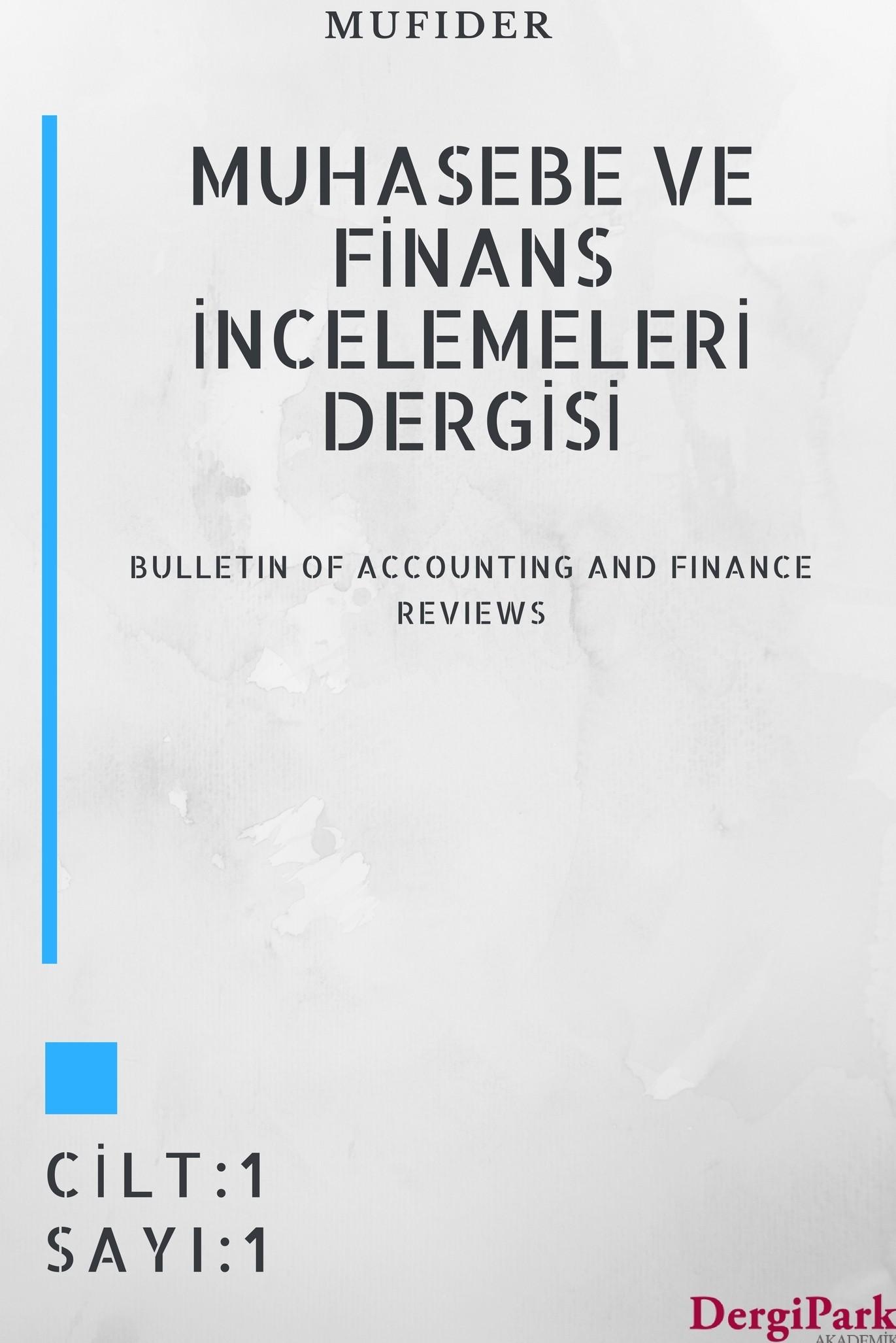 Muhasebe ve Finans İncelemeleri Dergisi