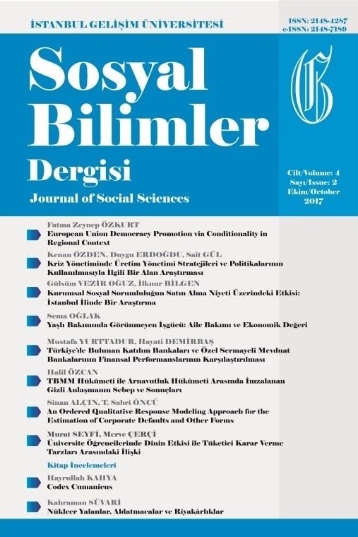 İstanbul Gelişim Üniversitesi Sosyal Bilimler Dergisi