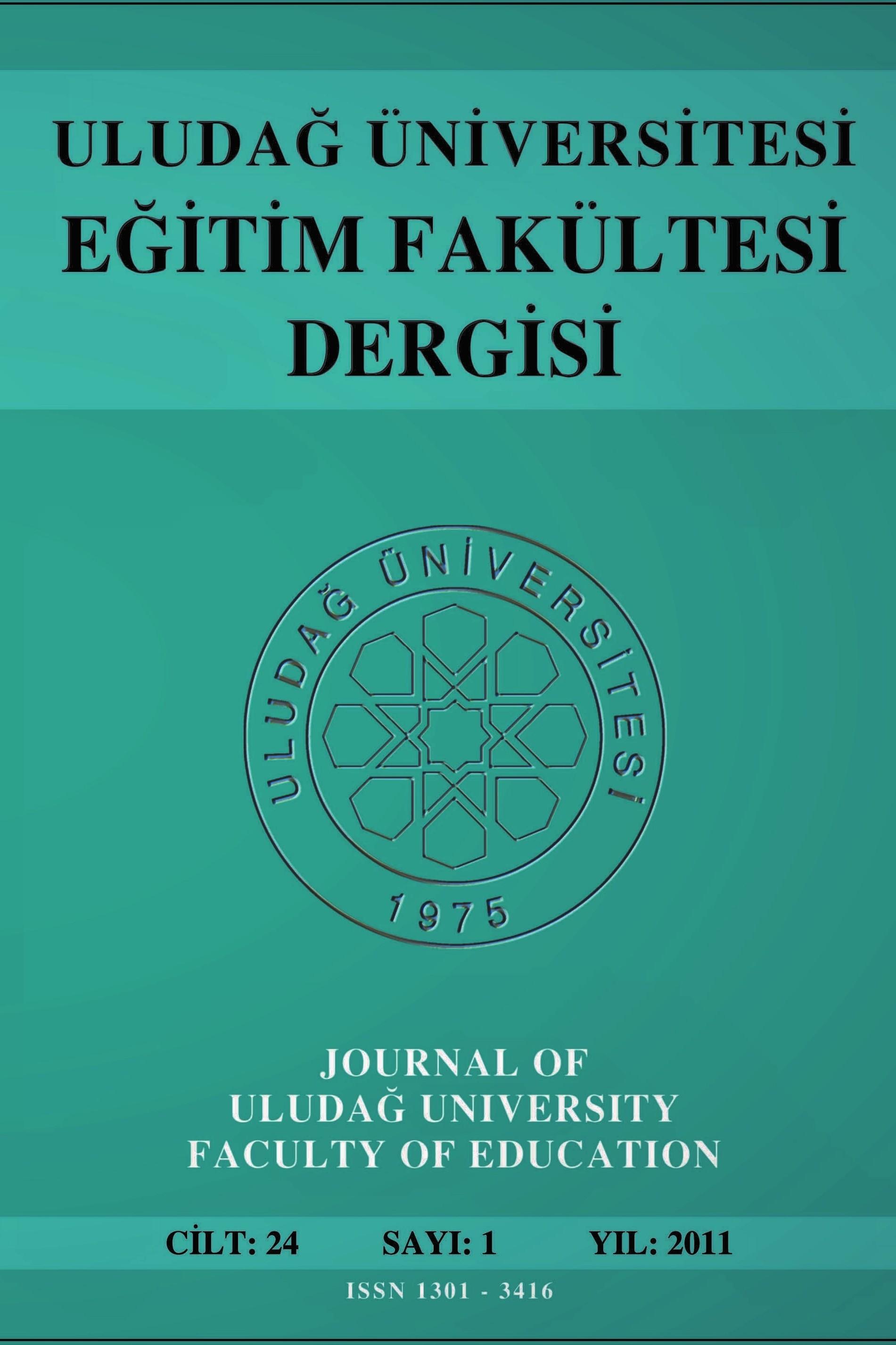 Uludağ Üniversitesi Eğitim Fakültesi Dergisi