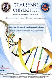 Gümüşhane Üniversitesi Fen Bilimleri Enstitüsü Dergisi