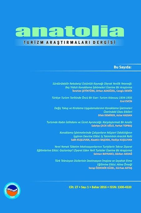 Anatolia: Turizm Araştırmaları Dergisi