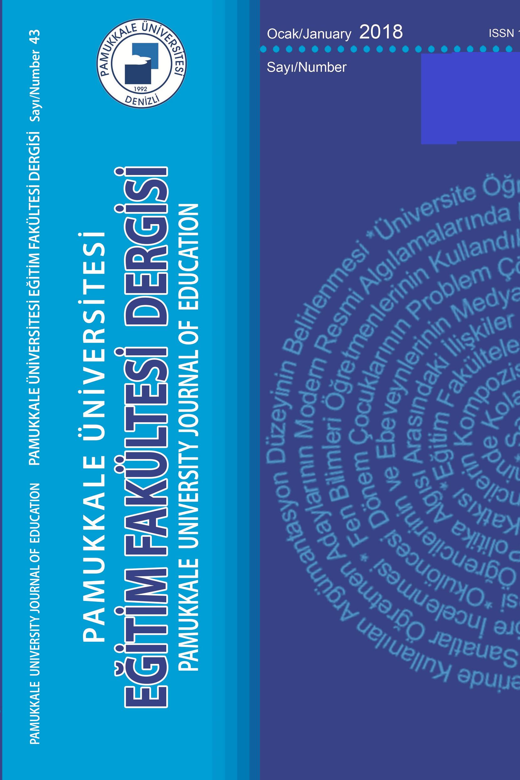Pamukkale Üniversitesi Eğitim Fakültesi Dergisi