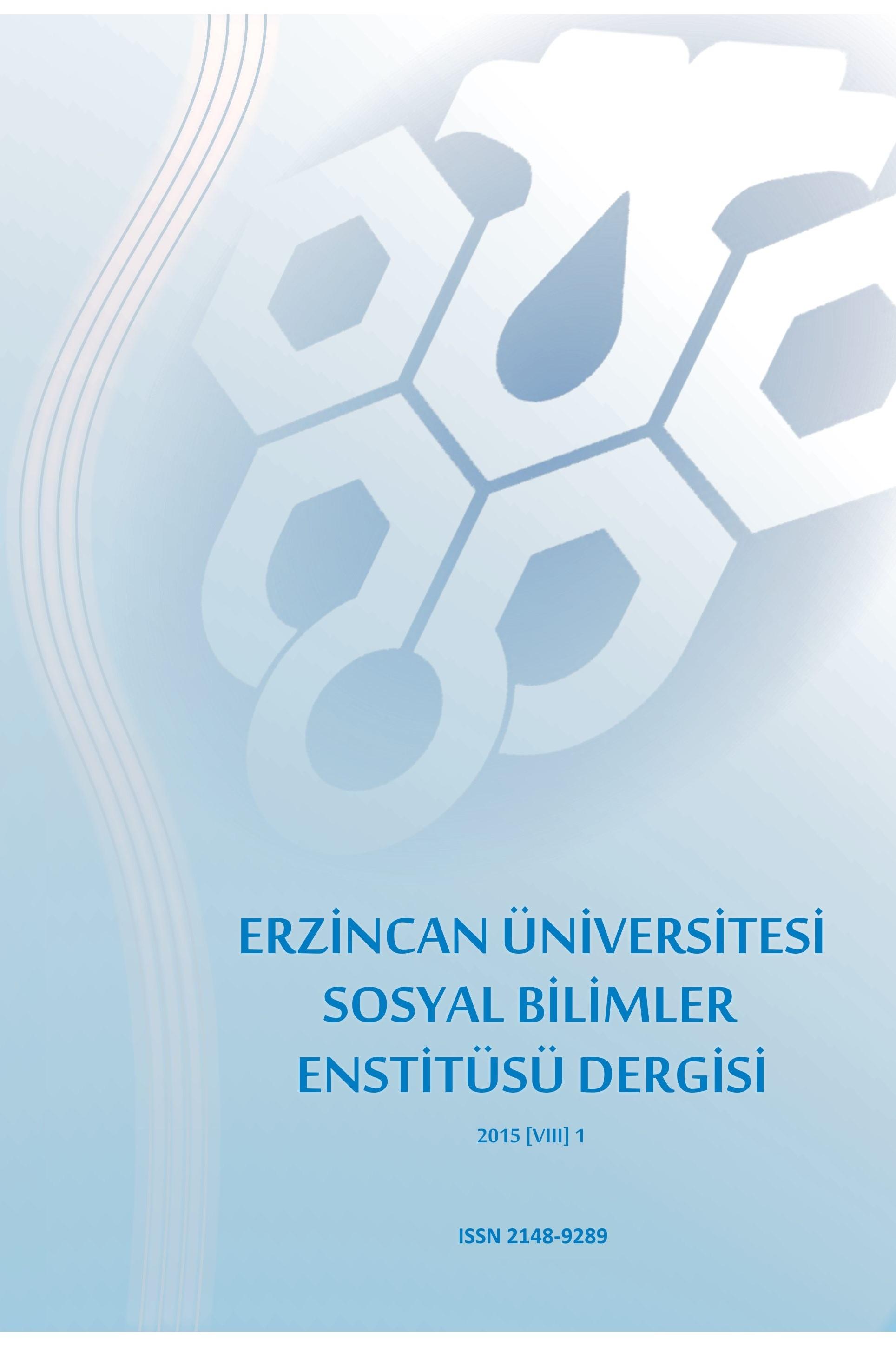 Erzincan Üniversitesi Sosyal Bilimler Enstitüsü Dergisi