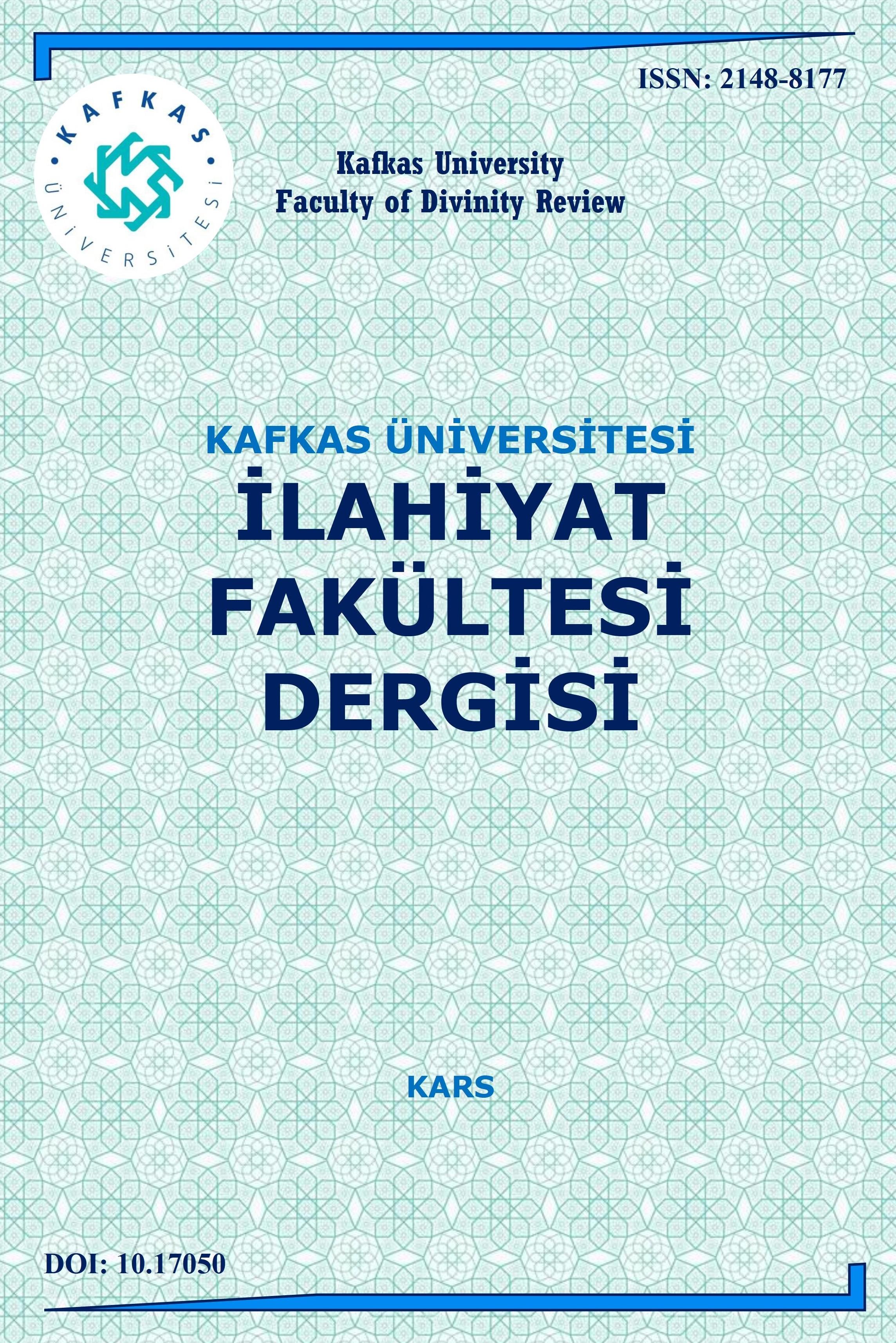 Kafkas Üniversitesi İlahiyat Fakültesi Dergisi