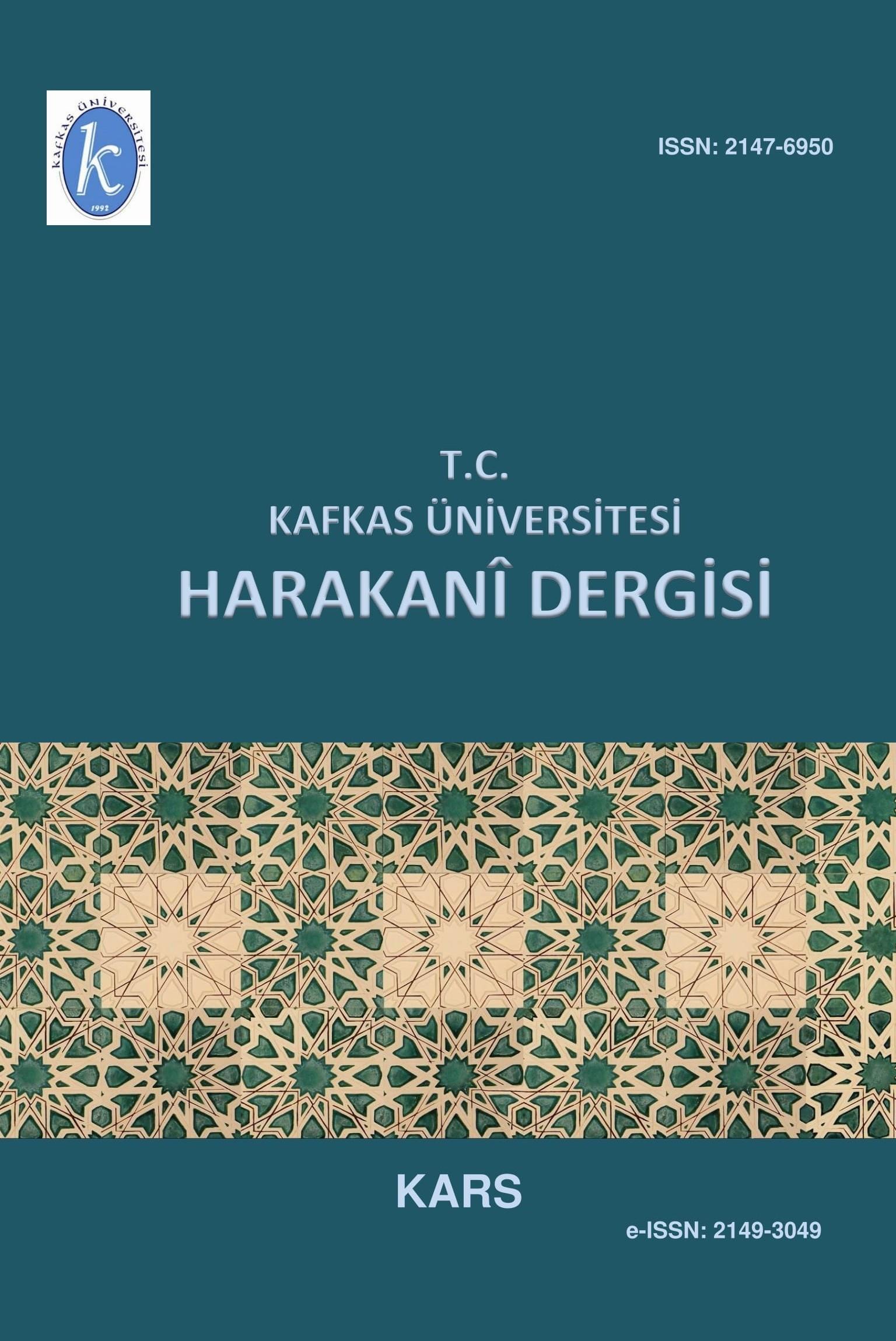 Kafkas Üniversitesi Harakani Dergisi