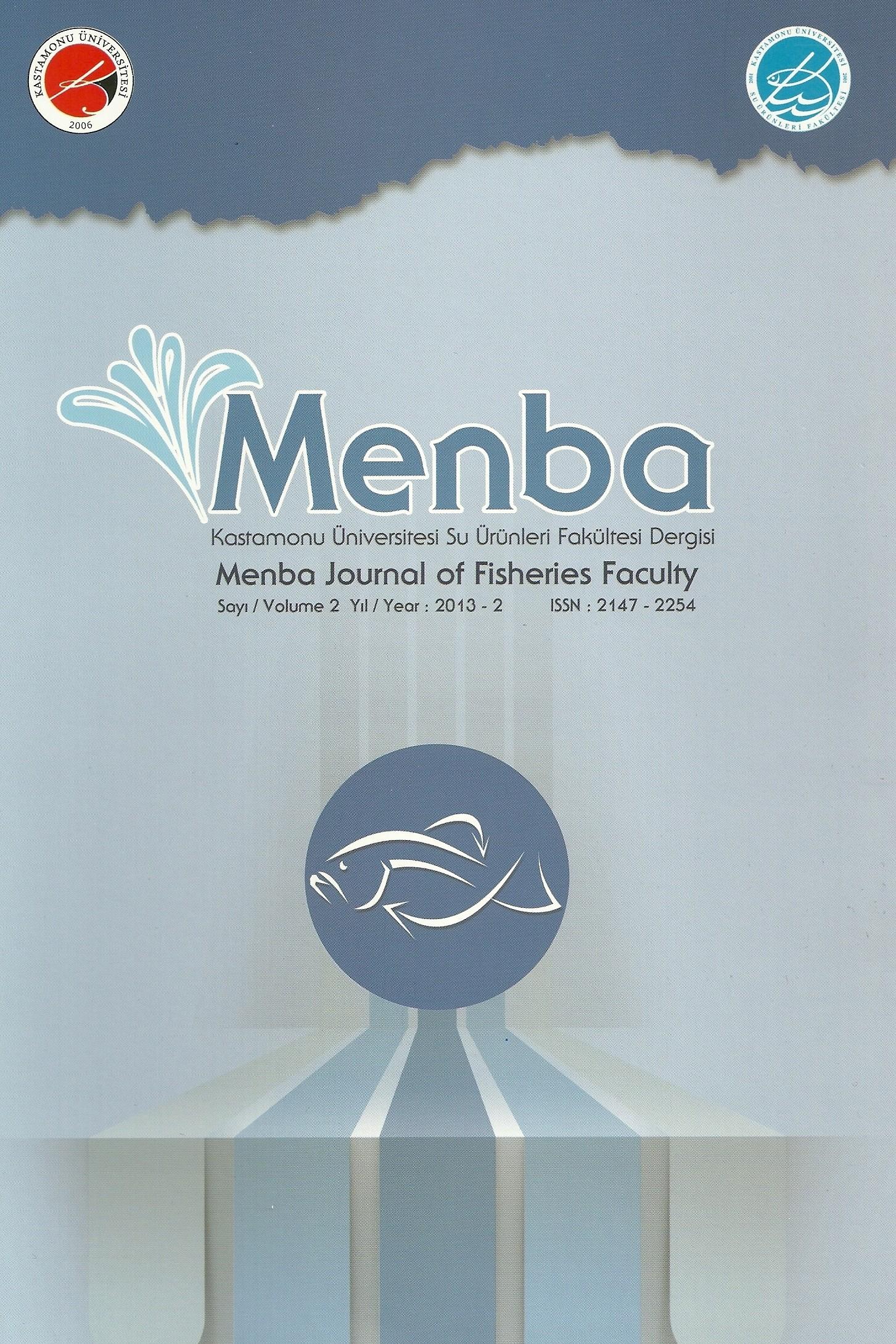 Menba Kastamonu Üniversitesi Su Ürünleri Fakültesi Dergisi