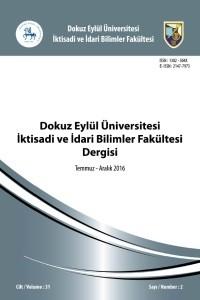Dokuz Eylül Üniversitesi İktisadi İdari Bilimler Fakültesi Dergisi