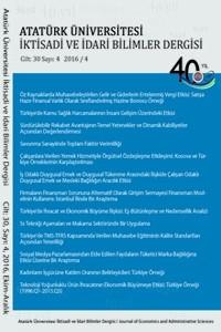 Atatürk Üniversitesi İktisadi ve İdari Bilimler Dergisi