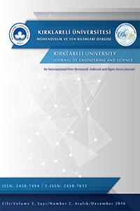 Kırklareli Üniversitesi Mühendislik ve Fen Bilimleri Dergisi