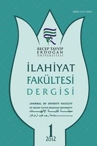 Recep Tayyip Erdoğan Üniversitesi İlahiyat Fakültesi Dergisi