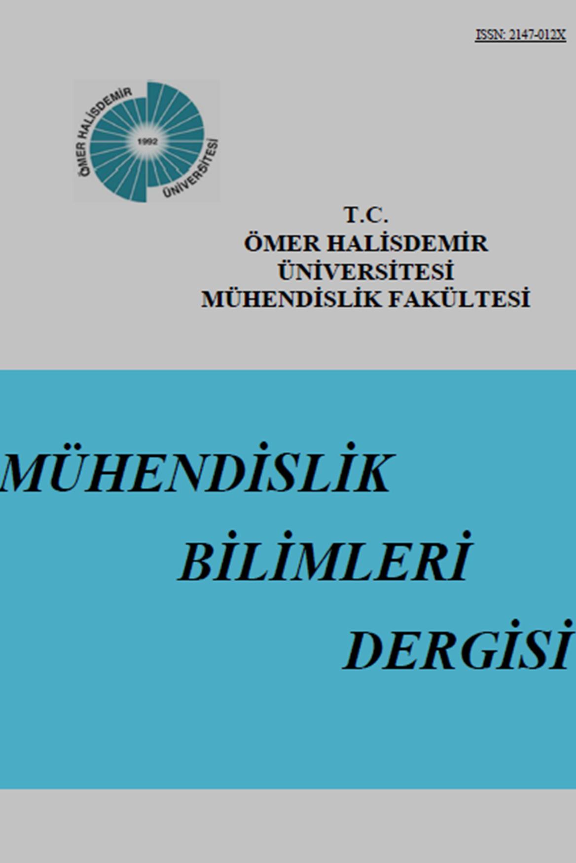 Ömer Halisdemir Üniversitesi Mühendislik Bilimleri Dergisi