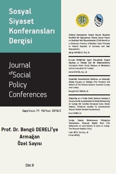 Sosyal Siyaset Konferansları Dergisi