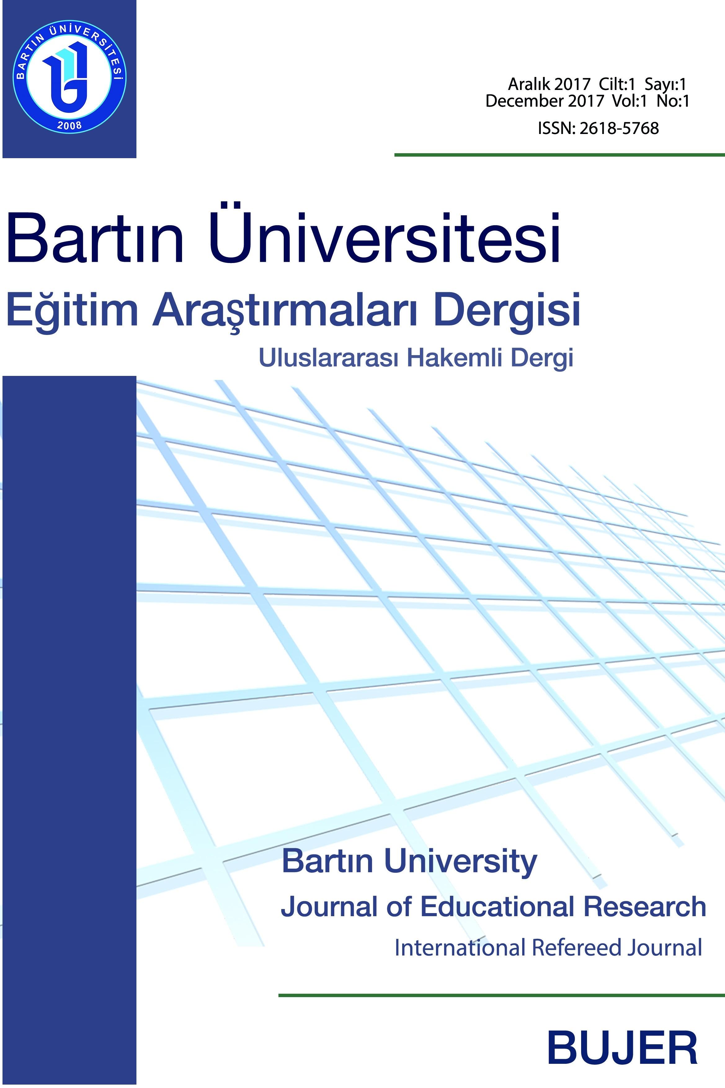 Bartın Üniversitesi Eğitim Araştırmaları Dergisi