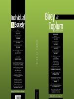 Birey ve Toplum Sosyal Bilimler Dergisi