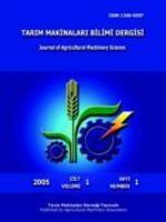 Tarım Makinaları Bilimi Dergisi