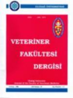 Uludağ Üniversitesi Veteriner Fakültesi Dergisi